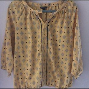 Banana republic 3/4 sleeve silk blouse size medium
